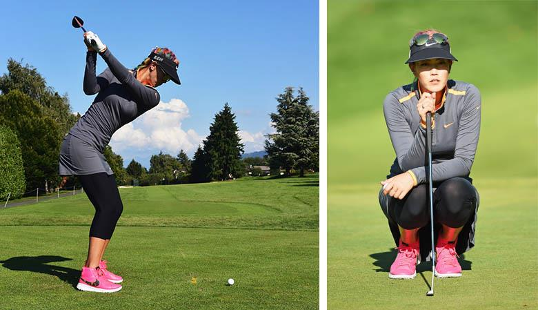 Michelle Wie Pink Nike Golf Shoes
