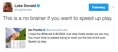 Luke Donald and Ian Poulter want green books banned