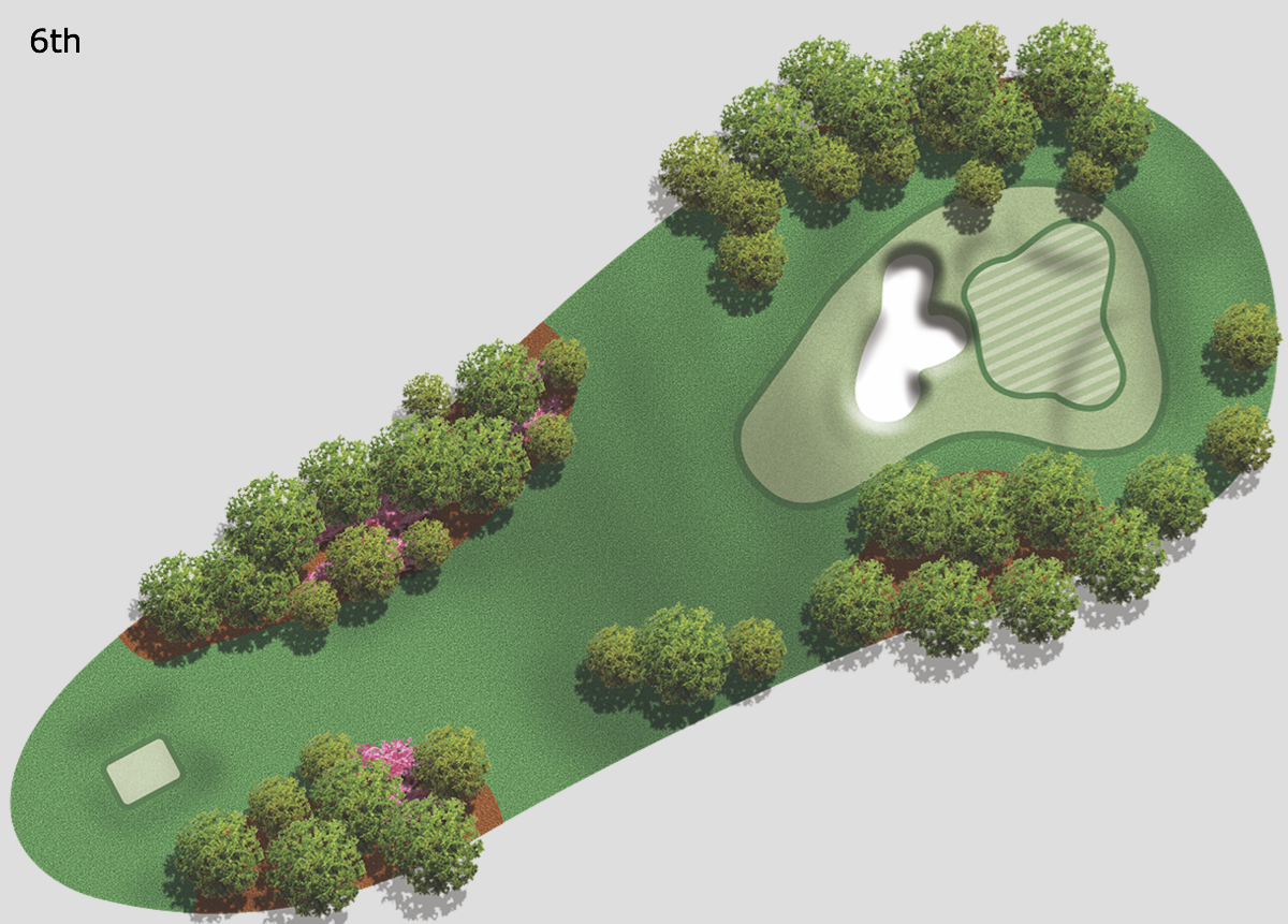 6th hole at Augusta National