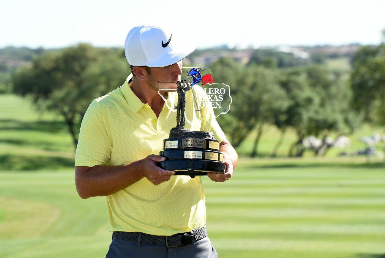 Chappell with Texas Valero Open trophy