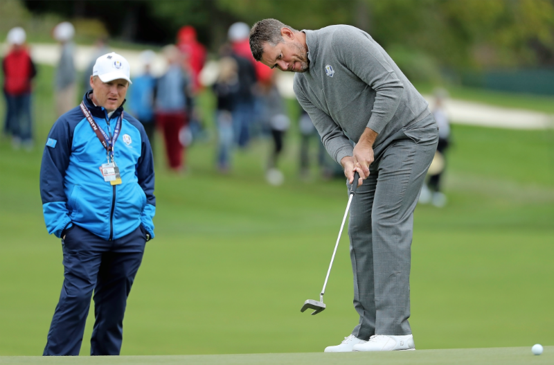 Lee Westwood and Phil Kenyon at the Ryder Cup