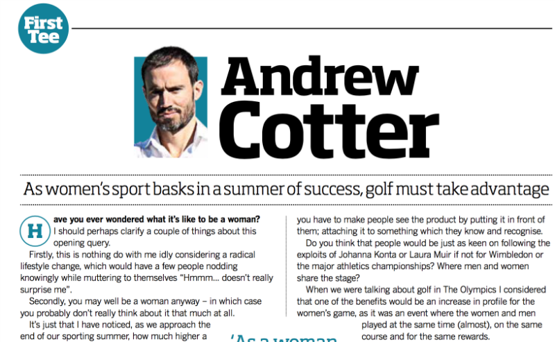Andrew Cotter's column preview