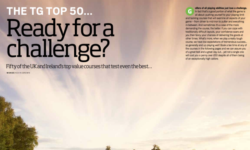 TG Top 50 challenging courses