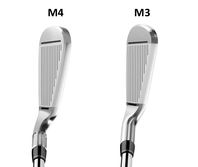 M4 and M3 irons at address