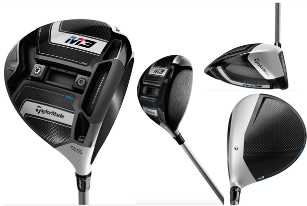 TaylorMade M3 Driver, LEFT Handed, 9.5 Degrees, Blue Even Flow