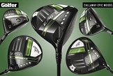 The new Callaway Epic range of drivers and fairway woods.